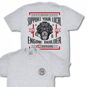 Maxima Oils - Support Your Local Engine Builder T-Shirt - Heather Grey, L