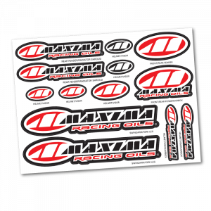 Maxima Oils - Assorted Logo Decal Sheet