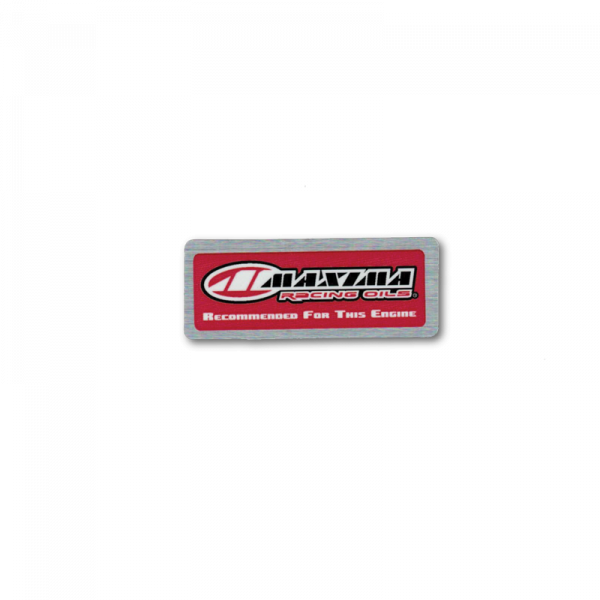 Maxima Oils - Recommended For This Engine Decal (Metal)
